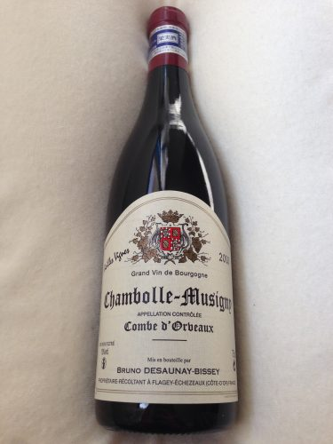 No.96 Bruno Desaunay Bissey Chambolle Musigny Combe d'Orbeaux Vieilles Vignes 2010
